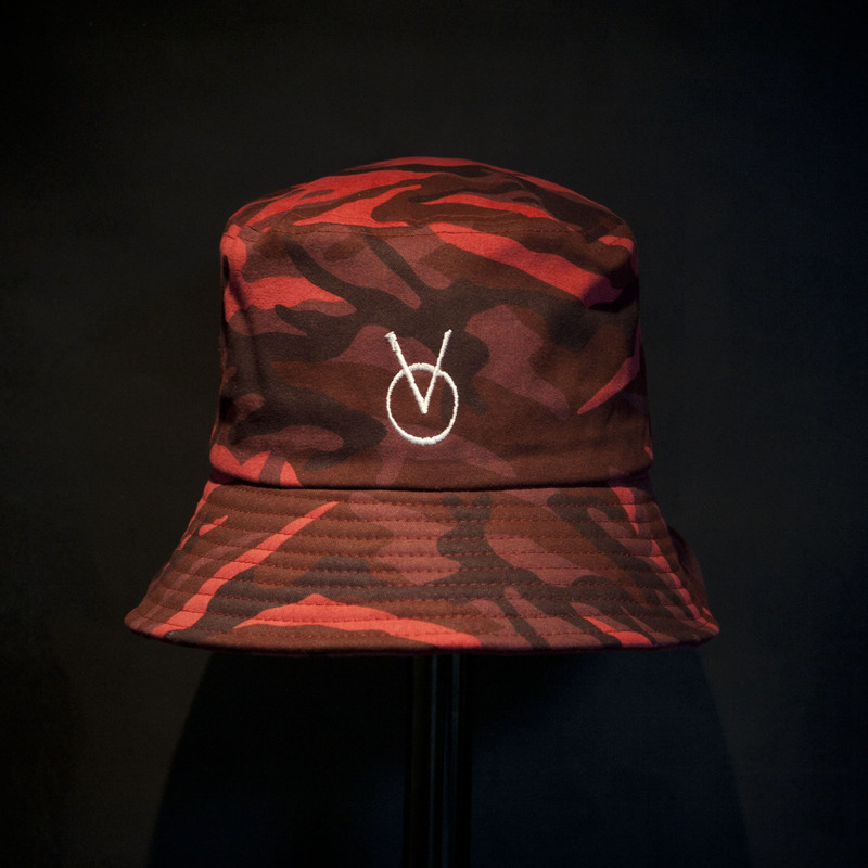 VINSMOKE `OV`BUCKET HAT [camouflage red] 3차/재입고/완료