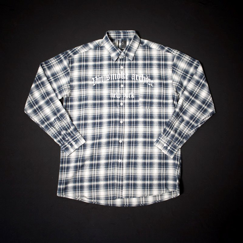 VINSMOKE Archive Check Shirt [BLUE]