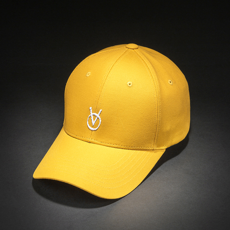 [빈스모크]VINSMOKE `OV` Small Logo BALL CAP [Yellow]