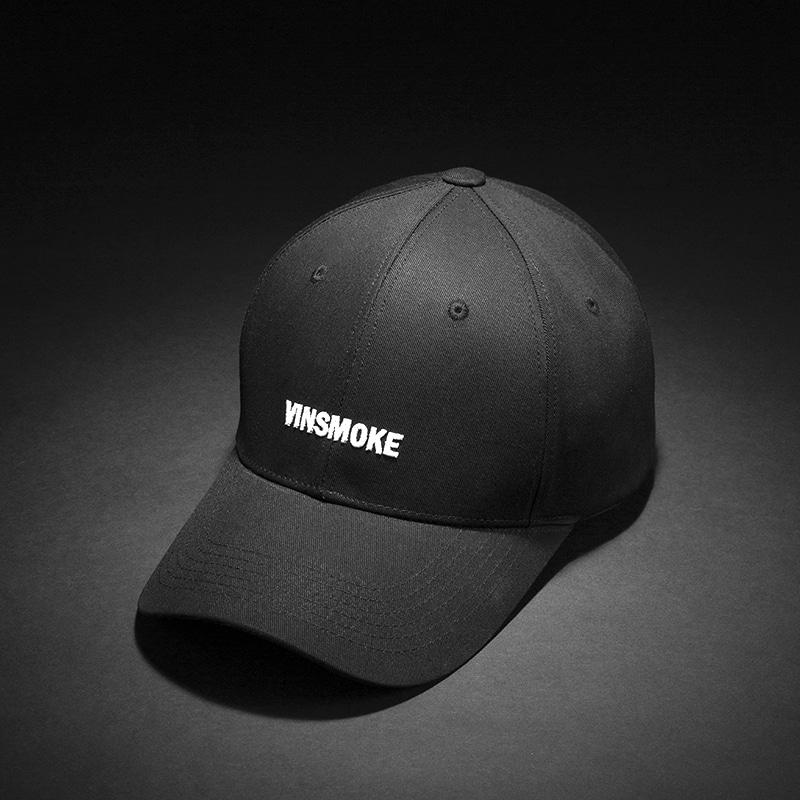 [빈스모크]VINSMOKE Letter Small Logo BALL CAP [BLACK]