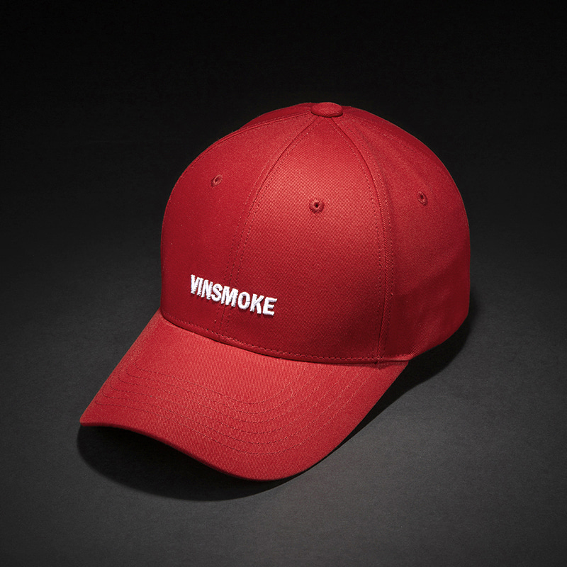 [빈스모크]VINSMOKE Letter Small Logo BALL CAP [RED]