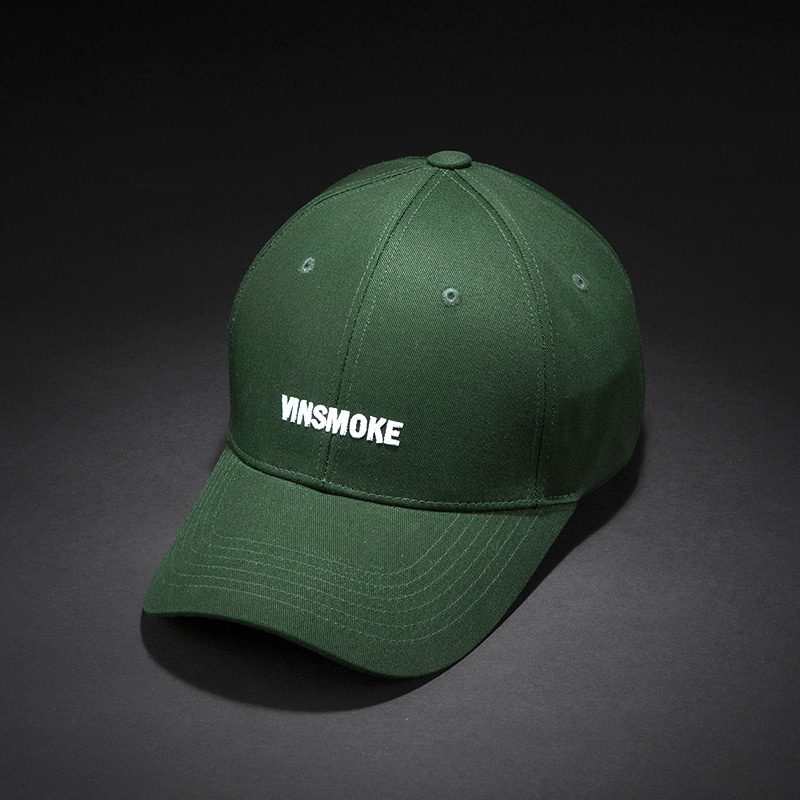 [빈스모크]VINSMOKE Letter Small Logo BALL CAP [GREEN]